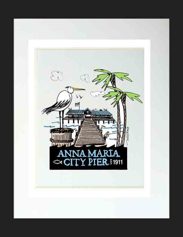AMI City Pier Matted Print
