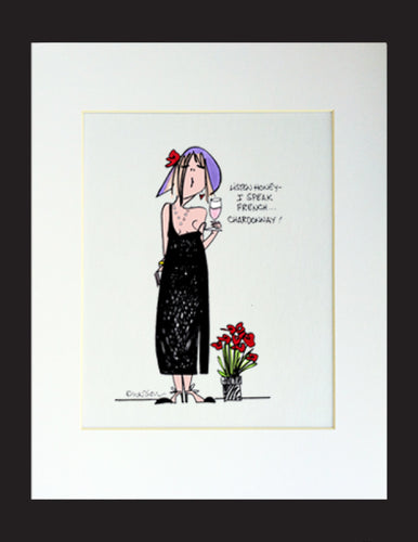 I Speak French...Matted Print