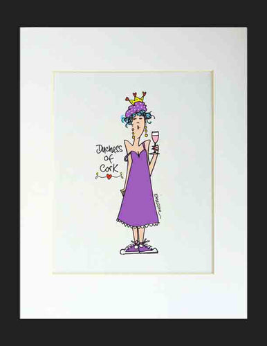 Duchess of Cork Matted Print
