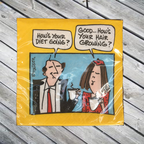 How's Your Diet Going? Cocktail Napkin