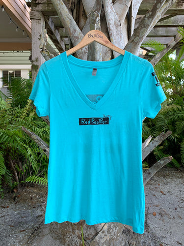 Rod & Reel Pier Womens V-Neck T-Shirt
