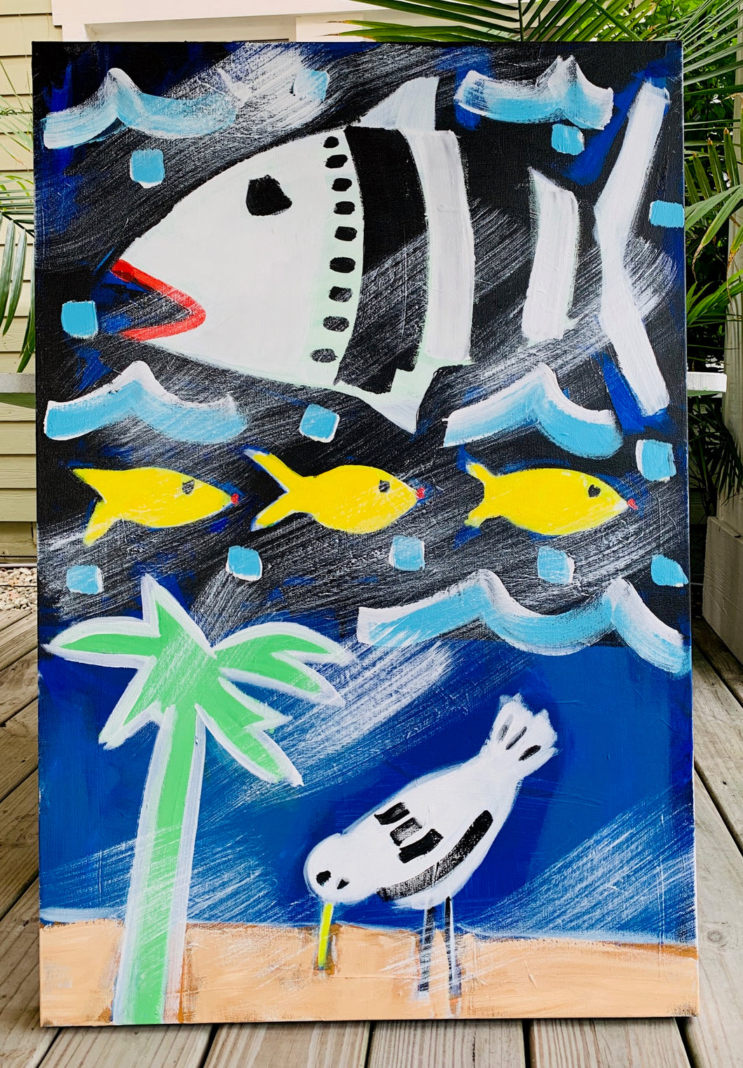 Fish and Bird Painting