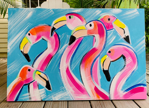 Flamingo Flock Painting