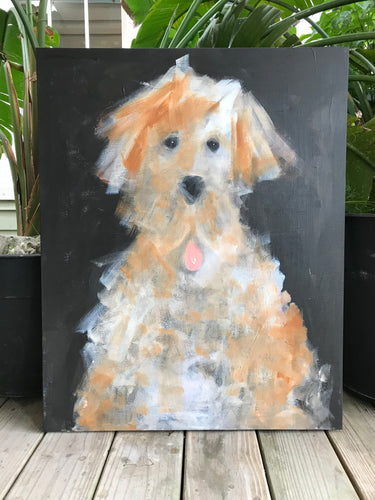 Happy Dog Painting