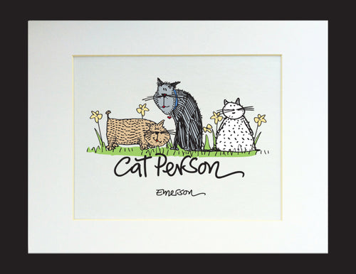 Cat Person Matted Print