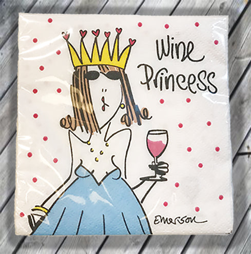 Wine Princess Cocktail Napkin