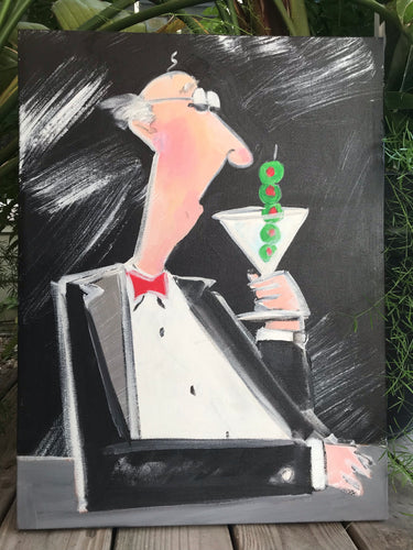 Martini Man Painting