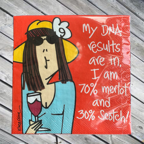 My DNA results are in... Cocktail Napkin