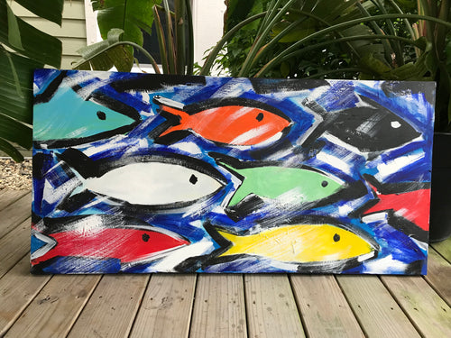 Fish School Painting