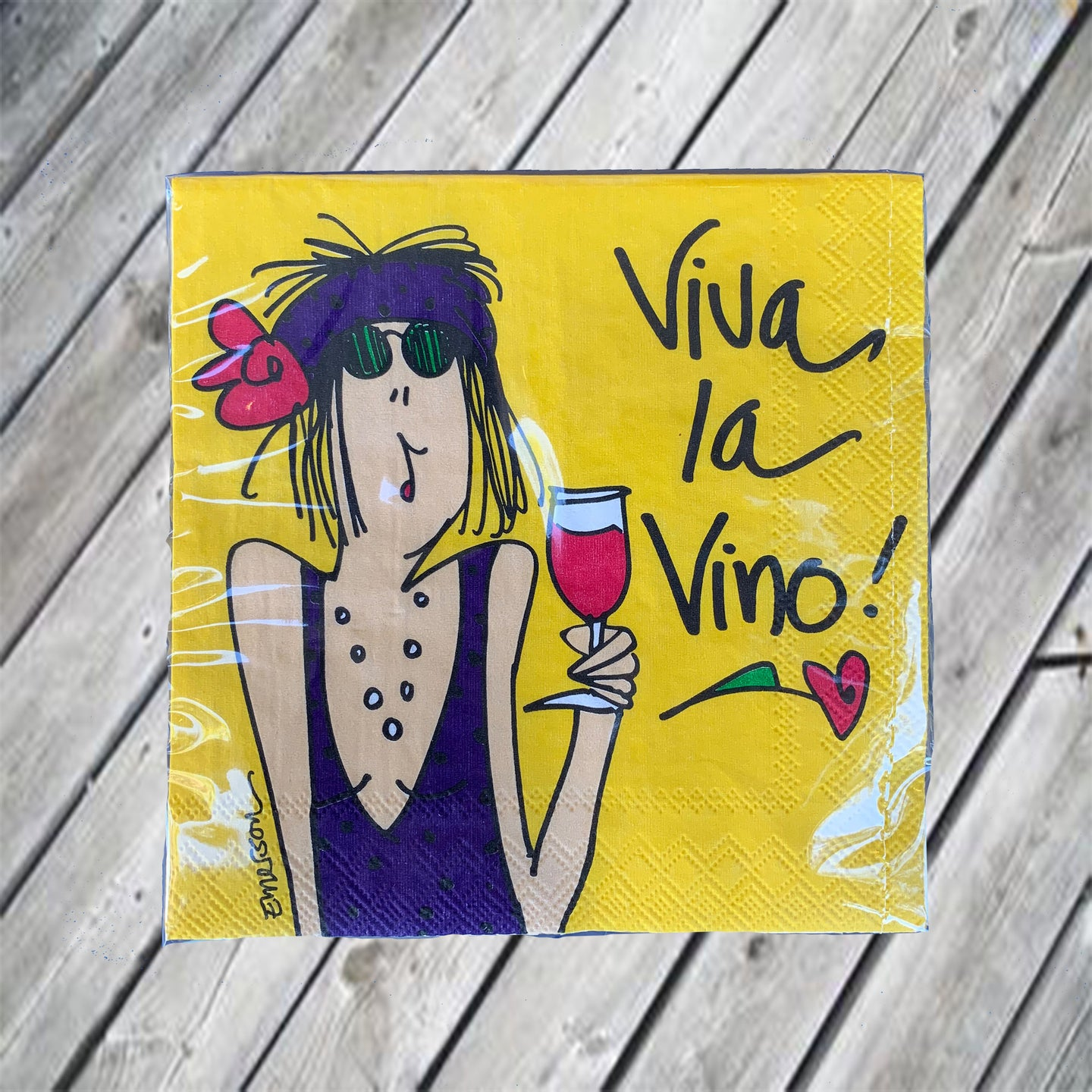 Viva La Vino...Cocktail Napkin