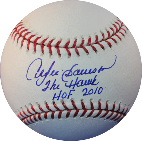 "Andre Dawson Signed Baseball Inscribed ""The Hawk HOF 2010"""