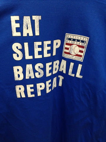 EAT SLEEP BASEBALL REPEAT Hall of Fame Long Sleeve Shirt