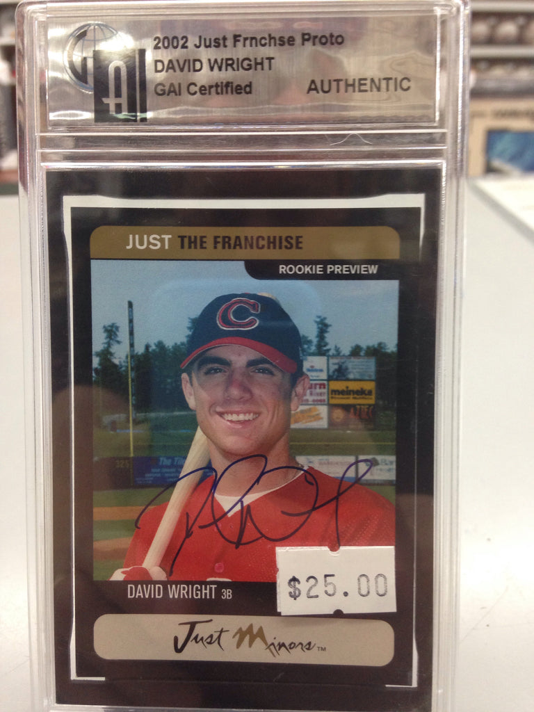 David Wright Autographed Card