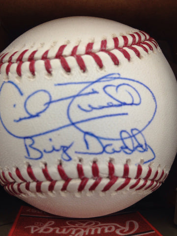 Cecil Fielder Autographed Baseball w/ Big Daddy Inscription
