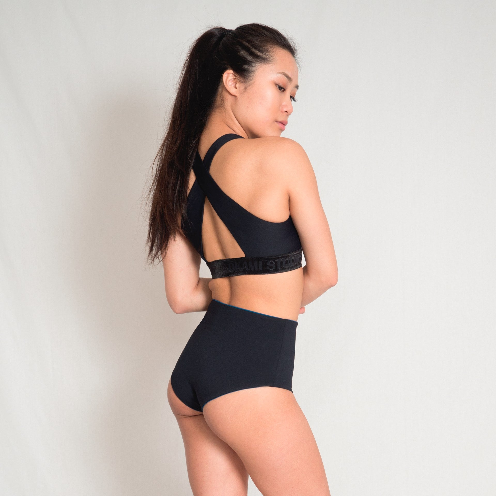 Pole dance wear in black
