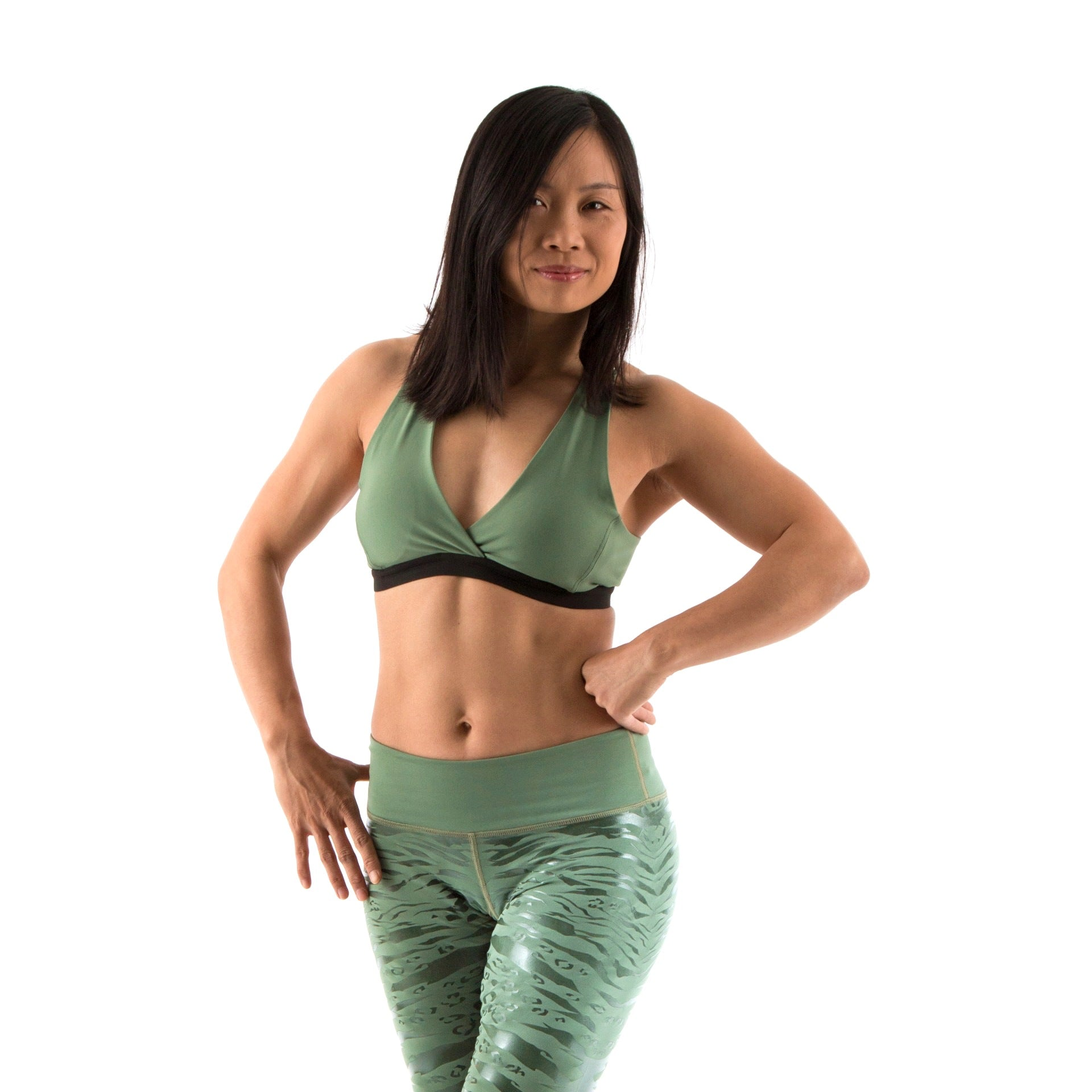 Activewear in sage green