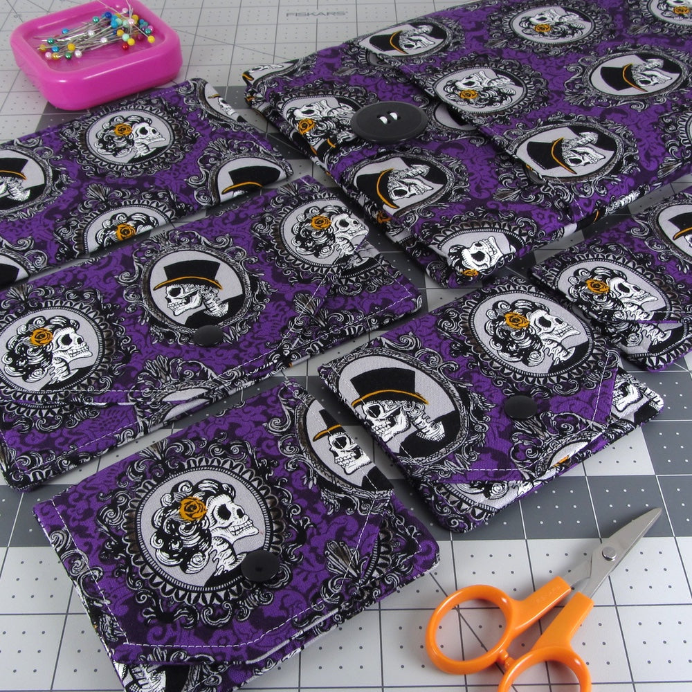 Purple Skull Portrait Novelty Print