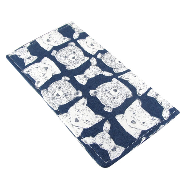 Handmade Animal Fabric Women's Checkbook Cover