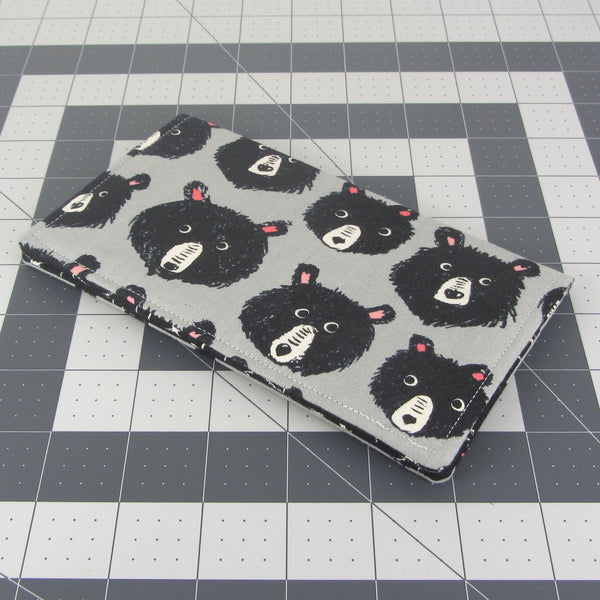Handmade Bear Fabric Women's Checkbook Cover