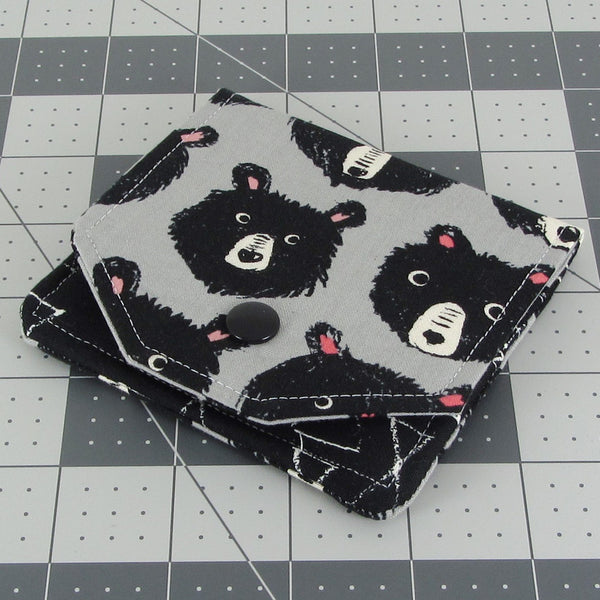cute bear minimalist wallet
