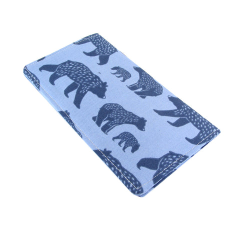 bear fabric women's checkbook cover