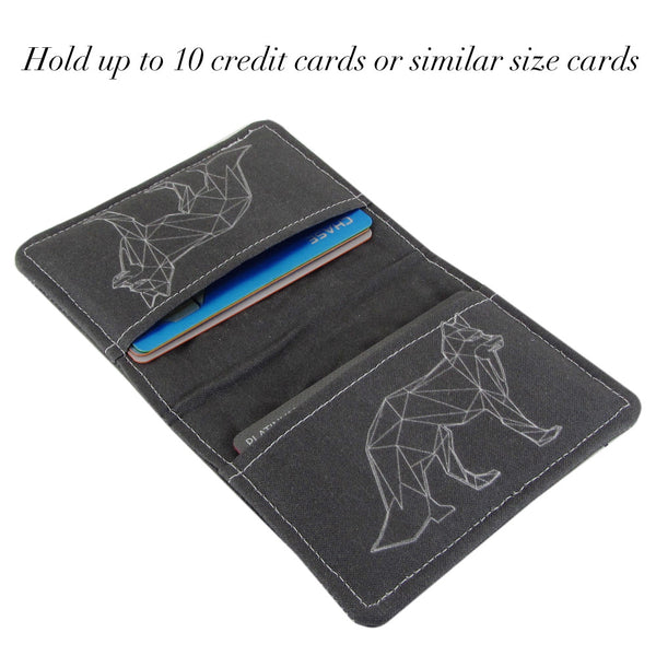 Bear Buffalo Fox Slim Women's Credit Card Wallet