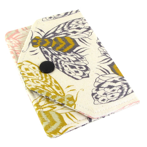 Handmade Bee Fabric Women's Business Card Case