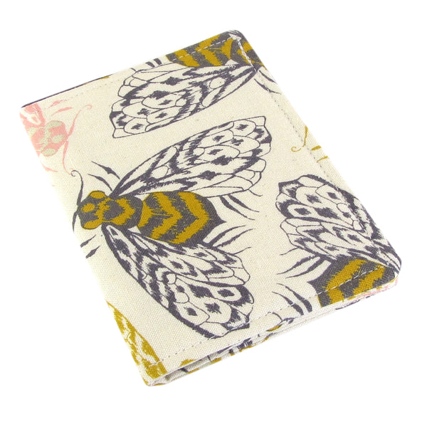 bee women's credit card wallet cotton and steel