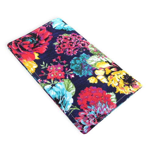 Handmade Flower Fabric Women's Checkbook Cover