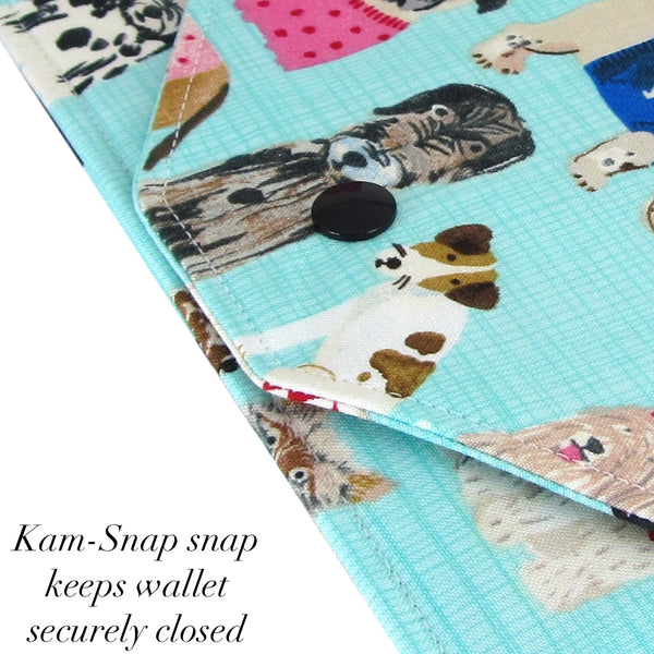Handmade Dog Fabric Women's Cash Envelope Wallet