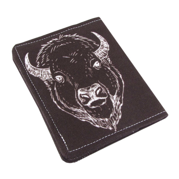 Five Sprouts Stitching buffalo elk Slim women's credit card wallet