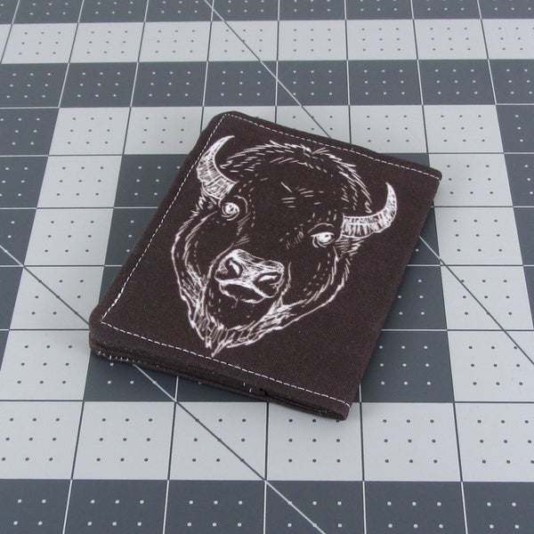 cute front buffalo elk pocket wallets for women