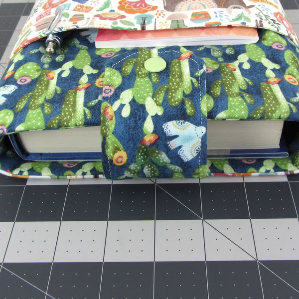 Handmade Cactus Animal Fabric Book Sleeve