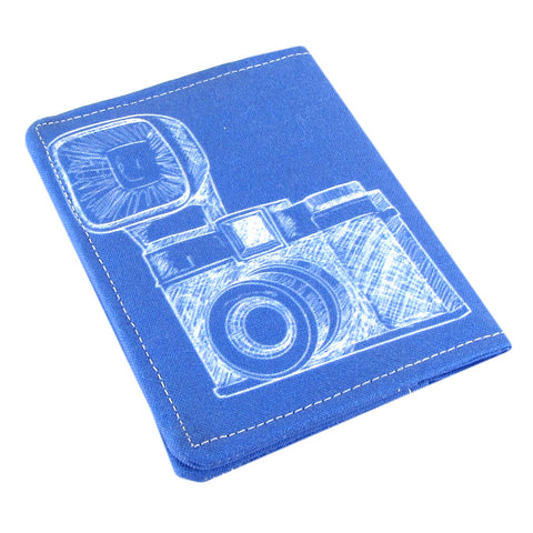 Five Sprouts Stitching vintage camera fabric Slim women's credit card wallet