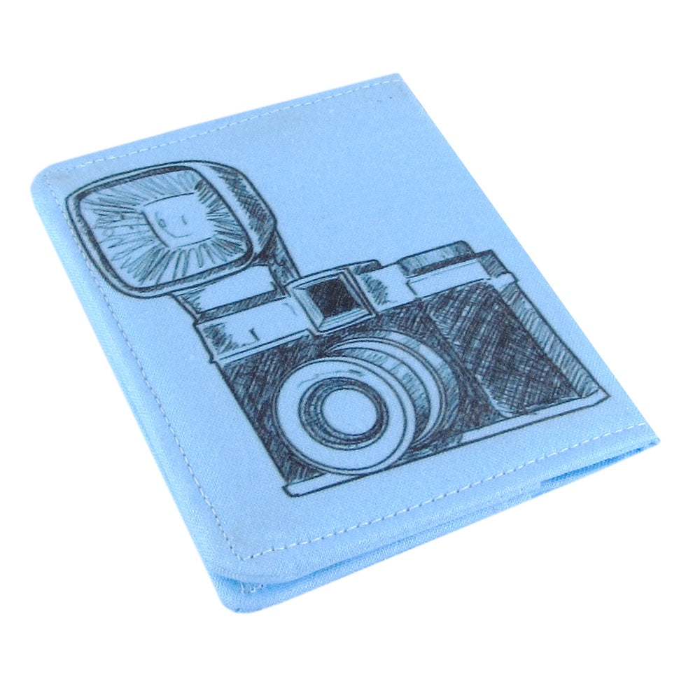 Handmade Vintage Camera Slim Women's Credit Card Wallet