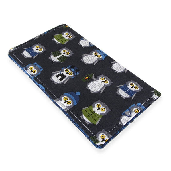 Handmade Camper Owl Fabric Women's Checkbook Cover