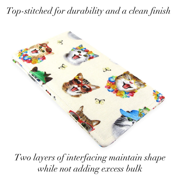 Copy of Handmade Cat Selfie Fabric Women's Checkbook Cover