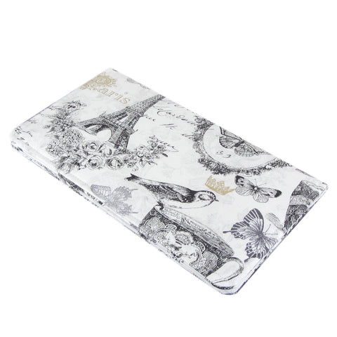 Paris fabric women's checkbook cover