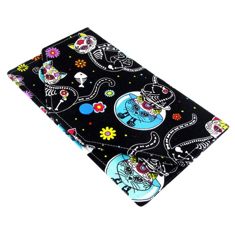 fabric day of the dead cast women's cash envelope wallet