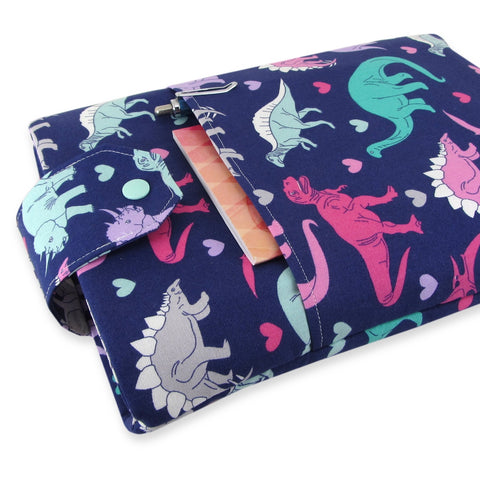 Handmade Dinosaur Fabric Book Sleeve
