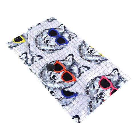 Dog In Sunglasses Fabric Women's Cash Envelope Wallet