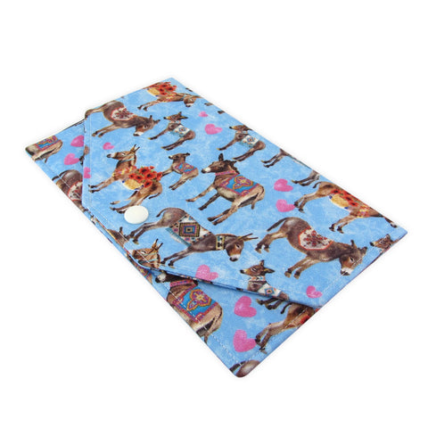 Handmade Donkey Fabric Women's Clutch Wallet