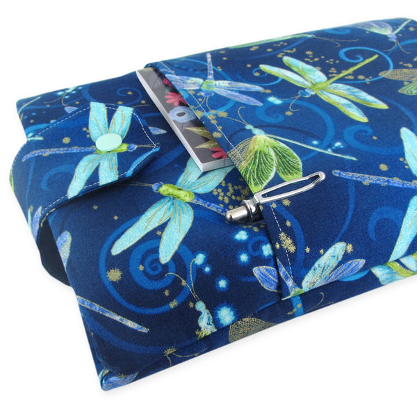 Handmade Dragonfly Fabric Book Sleeve