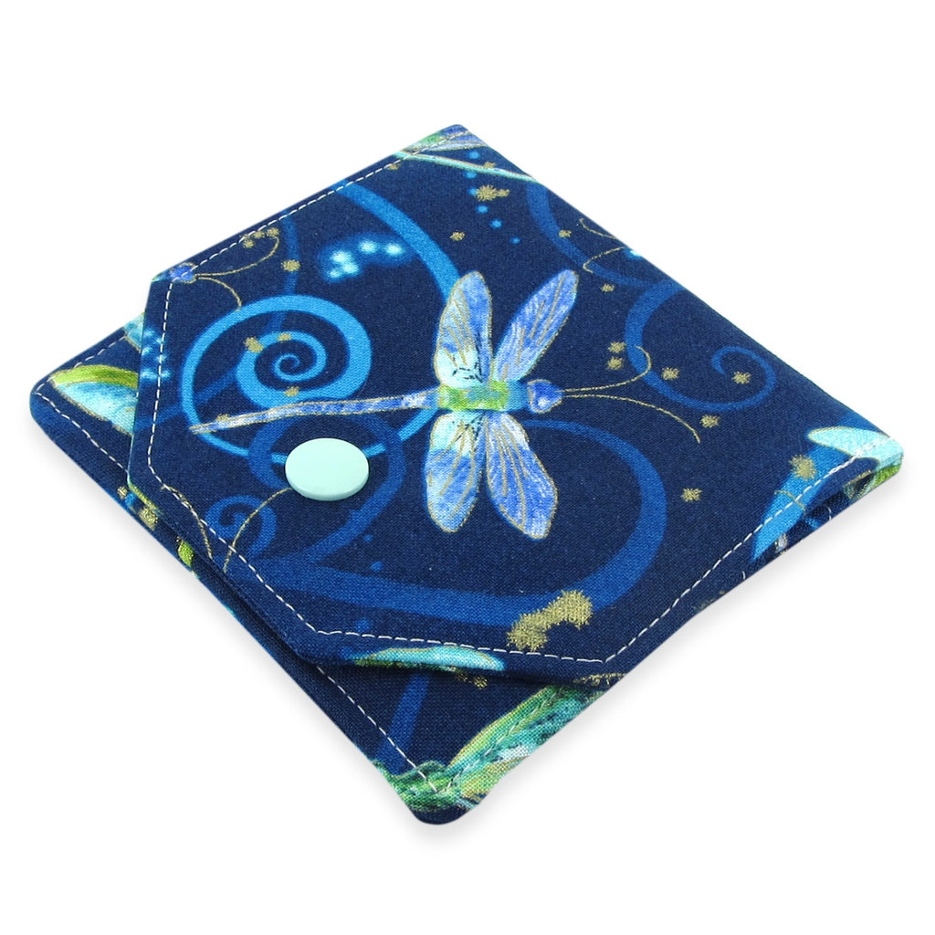 Handmade Dragonfly Fabric Women's Small Wallet