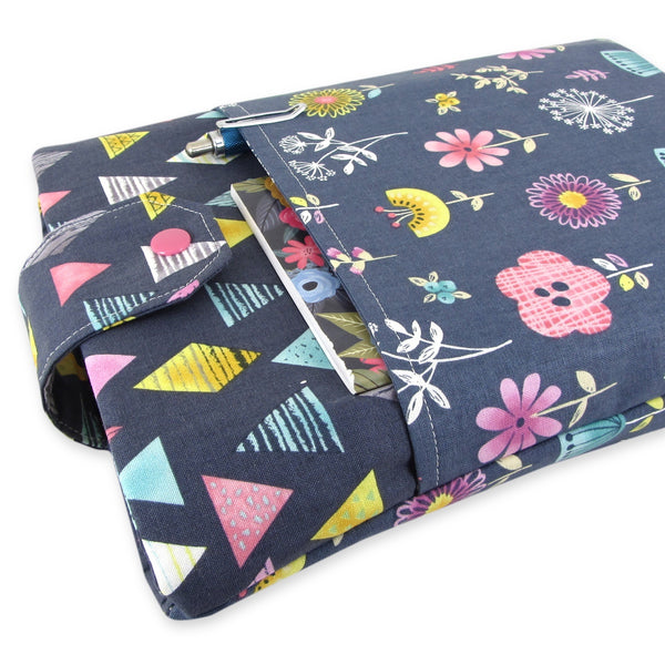 Handmade Floral Fabric Book Sleeve