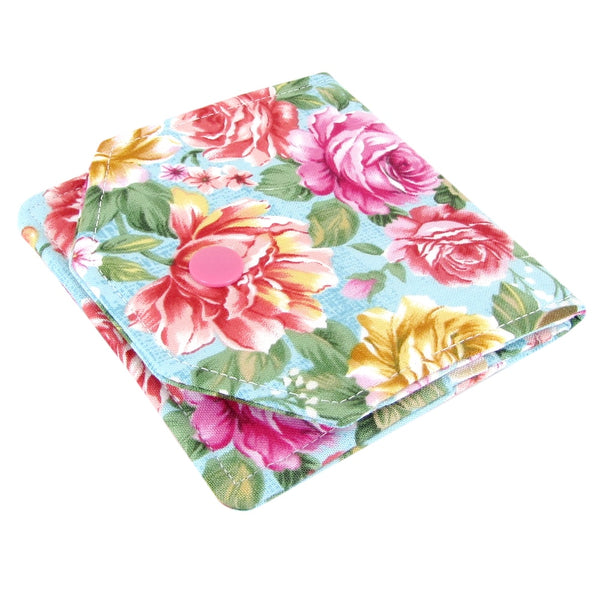 Handmade Roses Fabric Women's Small Wallet