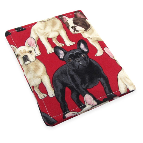 Handmade French Bulldog Dog Slim Women's Credit Card Wallet
