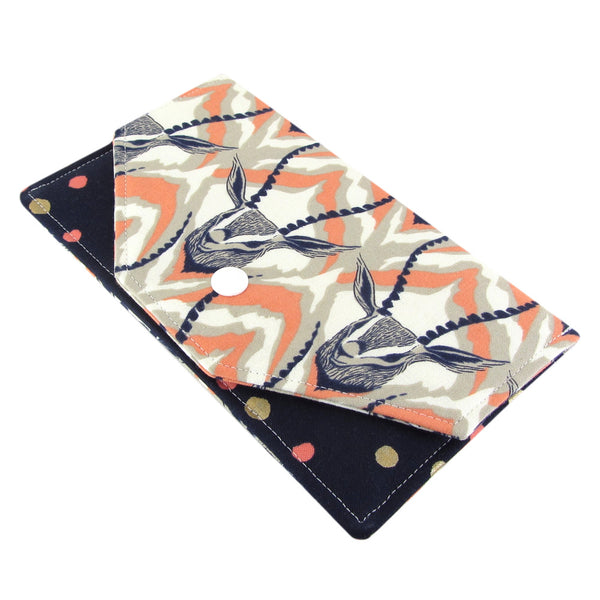 fabric gazelle women's cash envelope wallet