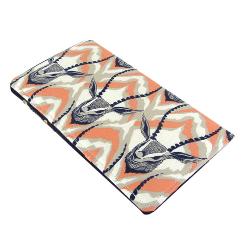 fabric gazelle women's checkbook cover