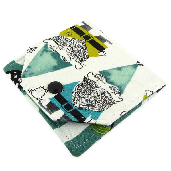 Handmade Gnome Fabric Women's Small Wallet